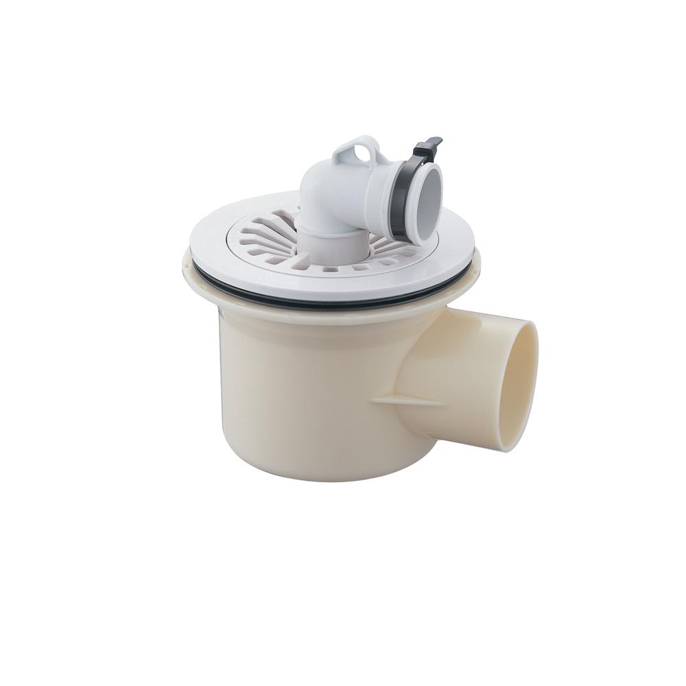 SANEI 洗濯ホース用 洗濯機排水トラップ VP・VUパイプ兼用 横排水用