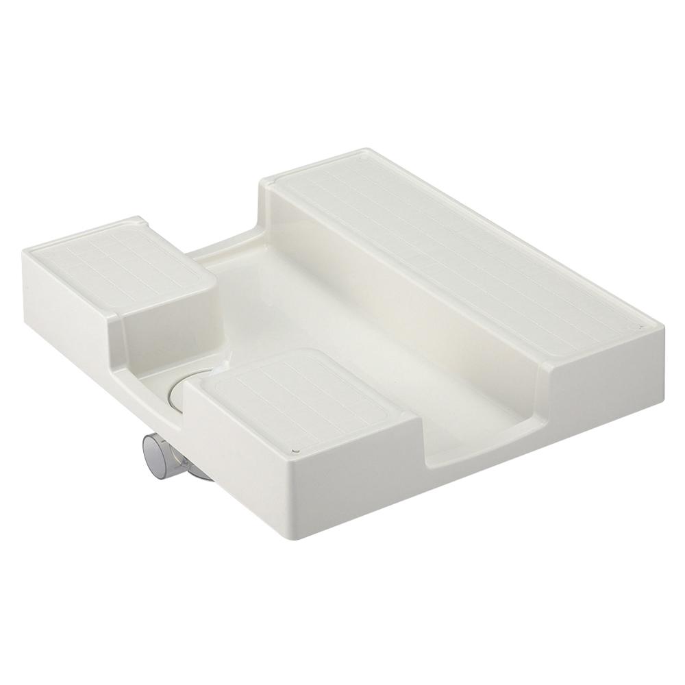 SANEI 【洗濯機パン】 外寸640×750mm かさ上げタイプ H5412-750