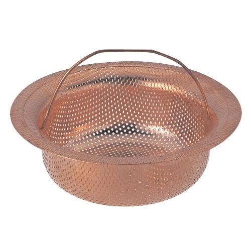 SANEI 『排水口のゴミ受け』 流し排水栓カゴ浅型 銅製小 PH6970F-2-S