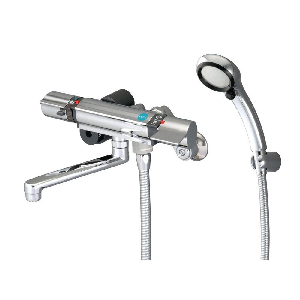 SANEI 【バス用混合水栓】 サーモシャワー混合栓 レイニーメタリック・プラチナホースを標準装備