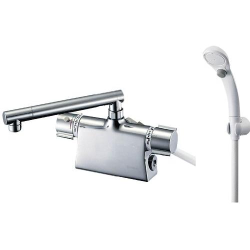 SANEI 【バス用混合栓】サーモデッキシャワー混合栓 ストップシャワー付き 取付け芯ピッチ85mm