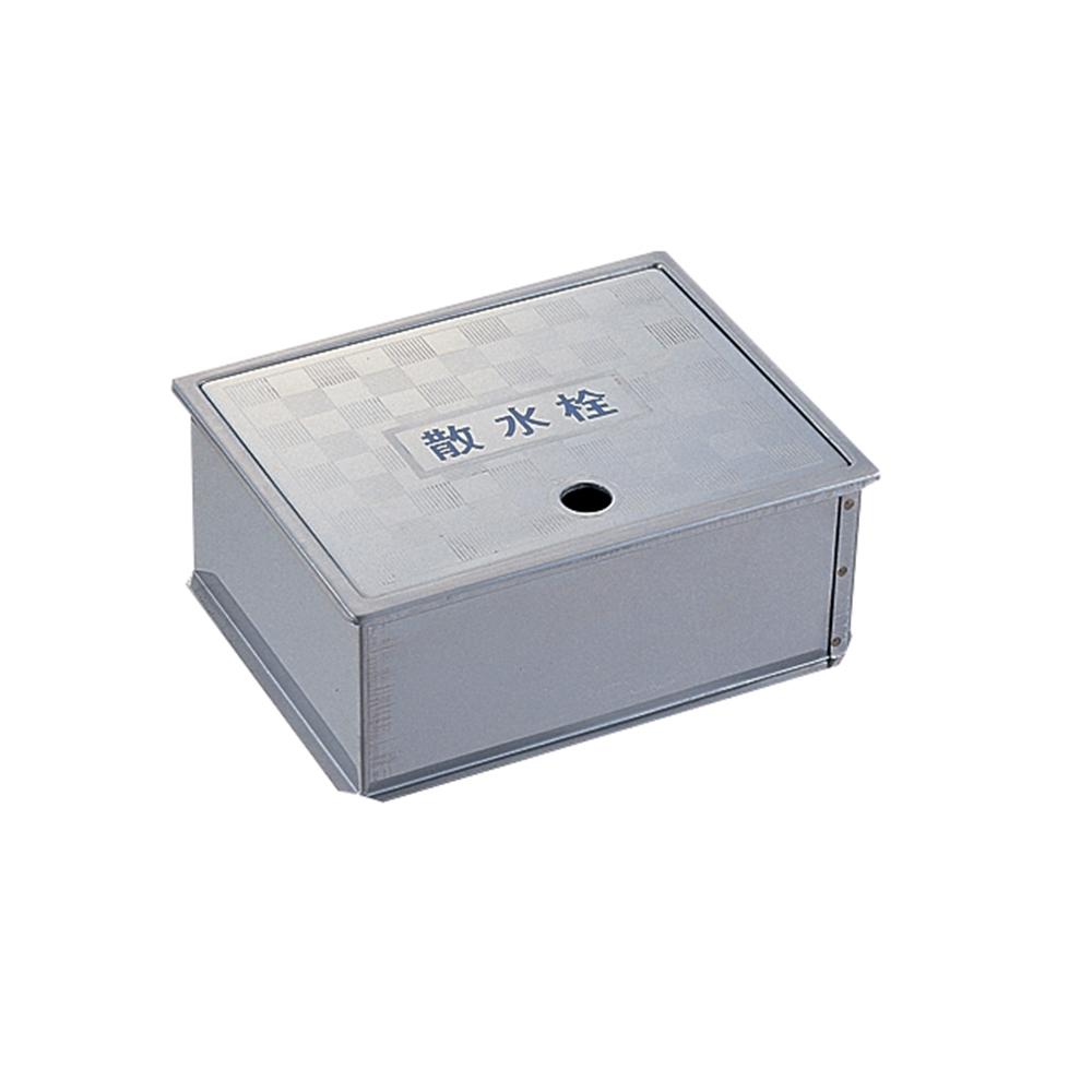 SANEI 【散水栓ボックス】 床面用 ヘアライン仕上げ R81-4-190X235