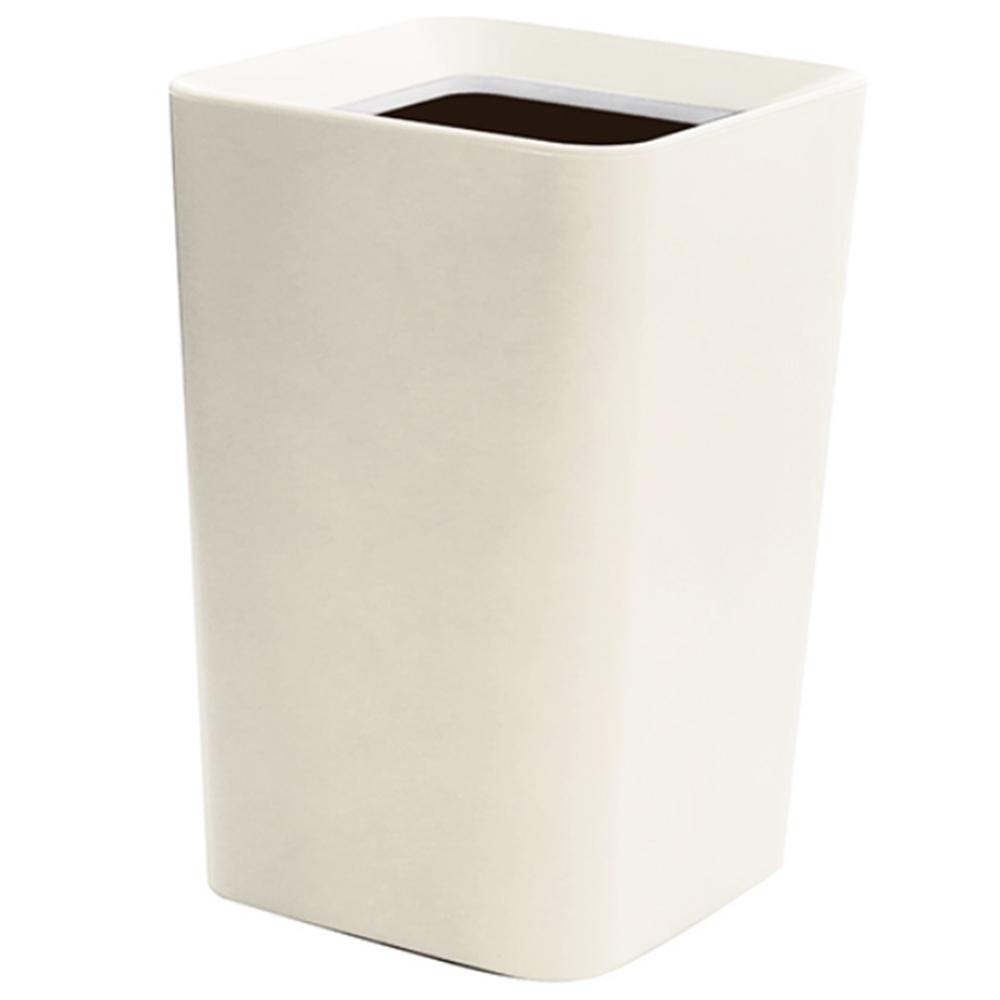 アスベル(ASVEL)ゴミ箱 6.6L 角型 くず入れ コンパクト ダストボックスWH