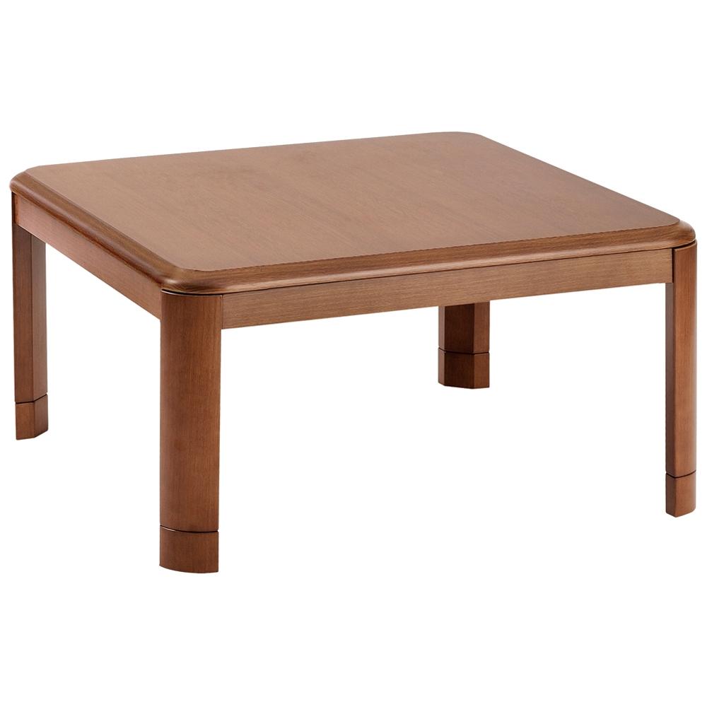 YAMAZEN(山善)  家具調こたつ 天然木 継脚タイプ 高さ2段階調整 正方形 幅80×奥行80×高さ36〜41cm WG-803H(MB)