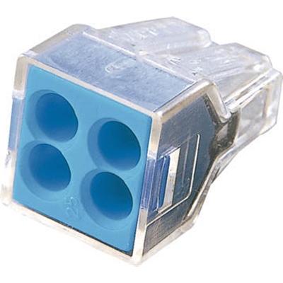 ワゴ WGX−4 差込コネクタ 4穴用 100個入り WGX4