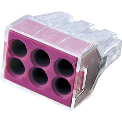 ワゴ WGX−6 差込コネクタ 6穴用 50個入り WGX6