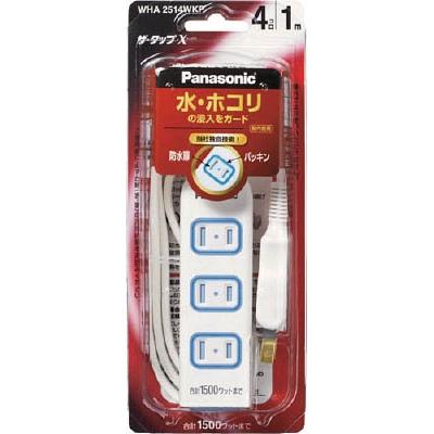 Panasonic ザ・タップX 6コ口 1mコード付 ホワイト WHA2516WP