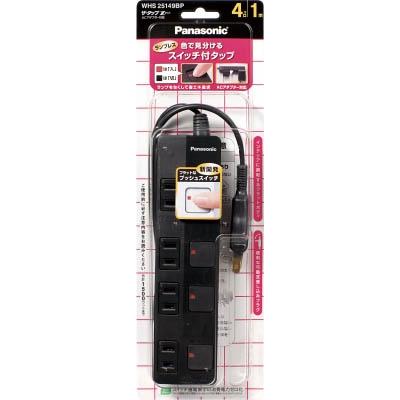 Panasonic ザ・タップZ ACアダプター対応 4コ口 2mコード付 ブラ WHS25249BP