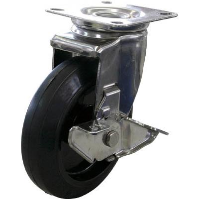 ユーエイ キャスターステンレス製自在車 150径ナイロンホイルゴム車輪 SUS-NRJ2-150