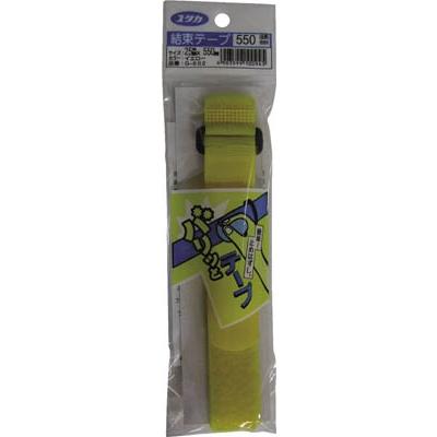 ユタカ マジックテープ 結束テープ 25mm巾×550mm イエロー G-602