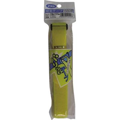 ユタカ マジックテープ 結束テープ 25mm巾×1550mm イエロー G-632