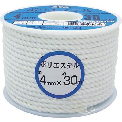 ユタカ ロープ ポリエステルロープボビン巻 3mm×50m RS-1