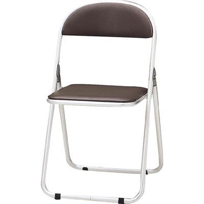 TOKIO パイプ椅子 シリンダ機能付 アルミパイプ ブラウン CF-700-BR