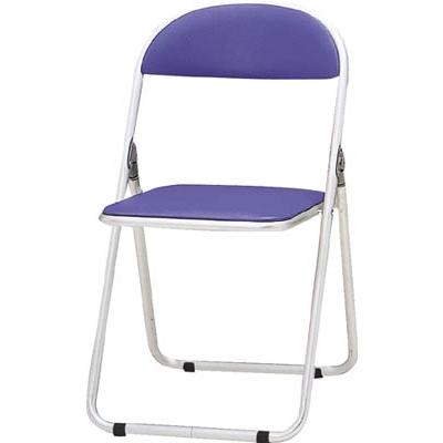TOKIO パイプ椅子 シリンダ機能付 アルミパイプ ブルー CF-700-BL