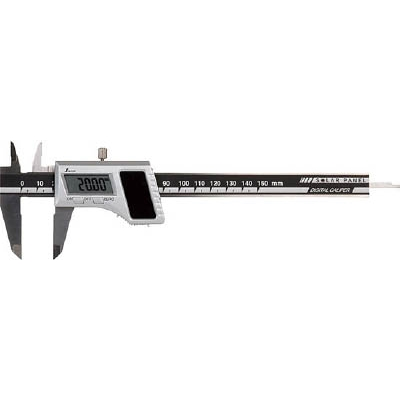 シンワ デジタルノギス150mm ソーラーパネル 19983