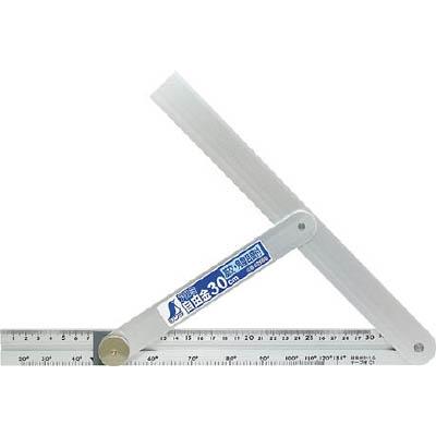 シンワ アルミ自由金 30cm 筋交・角度目盛付 62660