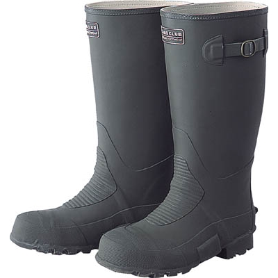 福山ゴム 土木作業長靴緑 24.5cm DSM