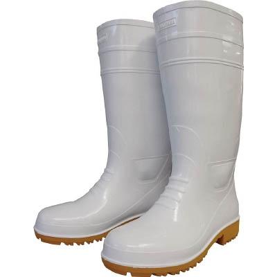 福山ゴム 耐油長靴先芯入り ガロア#1 ホワイト M GLA1MH