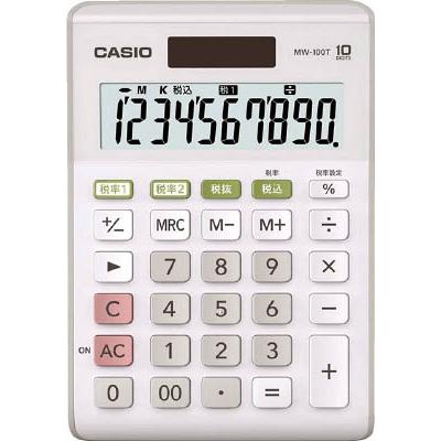 カシオ W税率電卓(ミニジャストタイプ) MW100TWEN