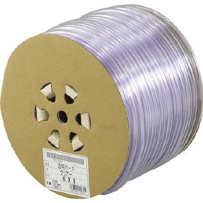 サンヨー 透明ホース6×8 100mドラム巻 TM68D100T