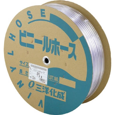 サンヨー 透明ホース18×21 50mドラム巻 TM1821D50T