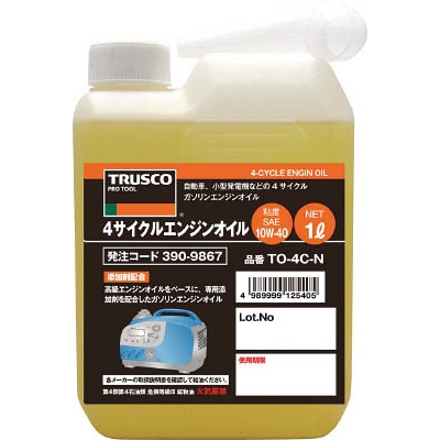 TRUSCO 4サイクルエンジンオイル1L TO-4C-N