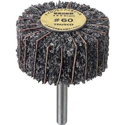 TRUSCO ナイロンミックスホイール 外径40X厚25X軸6 5個入 60♯ FM4025 60