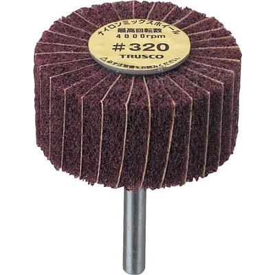 TRUSCO ナイロンミックスホイール 外径60X厚25X軸6 5個入 320♯ FM6025 320