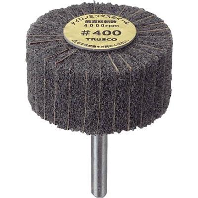 TRUSCO ナイロンミックスホイール外径60X厚25X軸6 5個入 400# FM6025 400