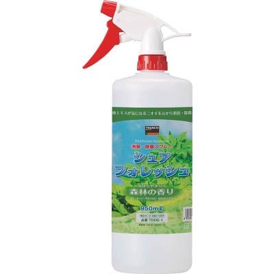 TRUSCO 除菌・消臭剤シュアフォレッシュ スプレータイプ 950ML TDDE-1