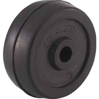 TRUSCO 二輪運搬車用車輪 Φ50ゴム車輪 4011用補助車輪 P50G