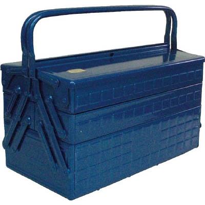 TRUSCO 3段式工具箱 412X220X343 ブルー  GT-410-B