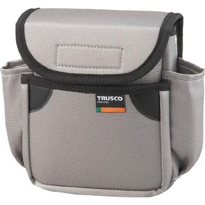 TRUSCO 小型腰袋 二段フタ付 グレー TC-52GY