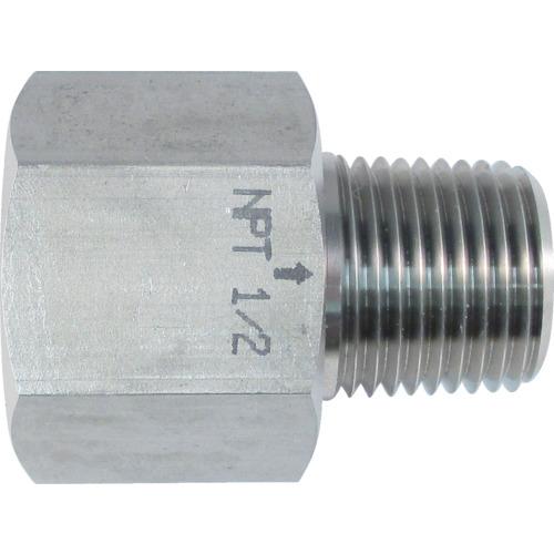 ASOH ステンレス製 変換内外ソケット 外NPT1/2×内PT1/2 NF8444
