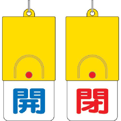 ユニット 回転式両面表示板 開:青文字 閉:赤文字 101×48 857-31