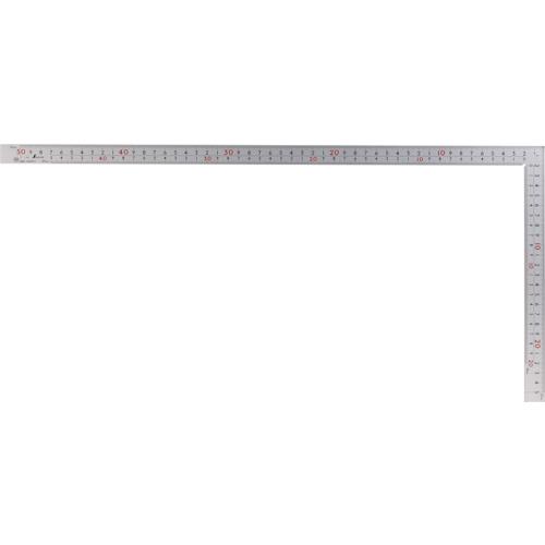 曲尺厚手広巾 シルバー50cm建築・鉄工用 表裏目盛 8段cm数 10450