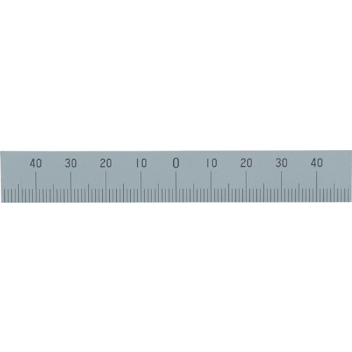 シンワ マシンスケール100mm下段左右振分目盛穴無 14160