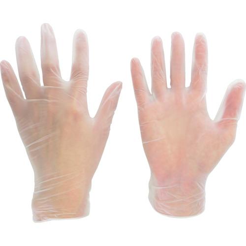 ミドリ安全 塩化ビニール製 使い捨て手袋 粉なし 100枚入 M VERTE851M