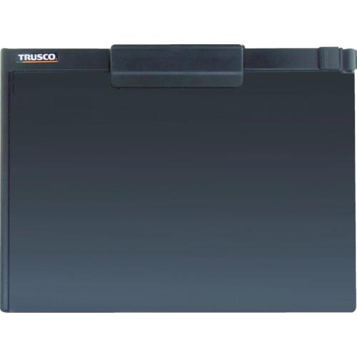TRUSCO ペンホルダー付クリップボード A4横 黒 TCBA4SBK