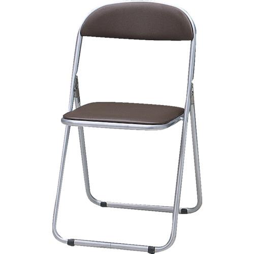 TRUSCO 折りたたみパイプ椅子 ウレタンレザーシート貼り ブラウン  FC-1000TS  BR(ブラウン)(ネンタイトウタイプ)
